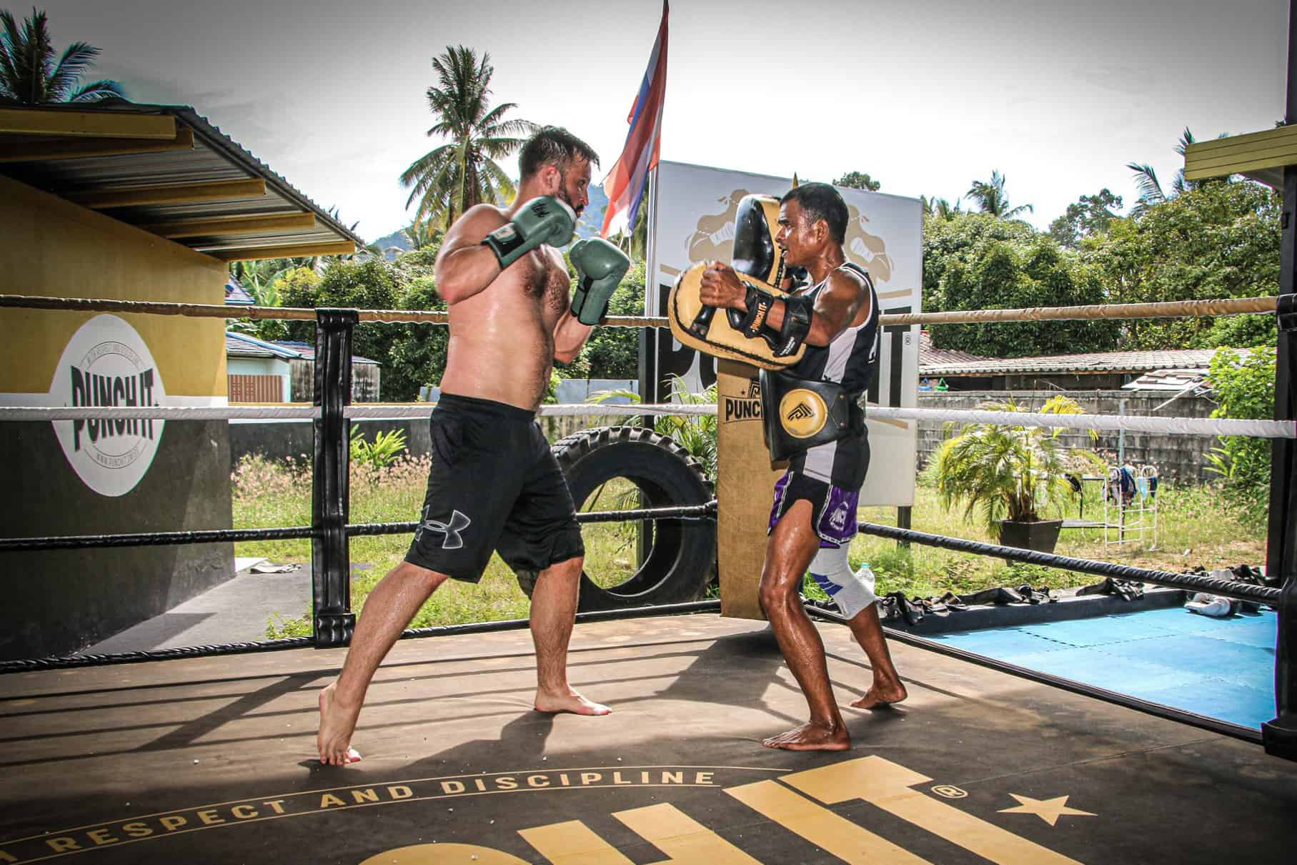 Training at Punch It Gym Samui