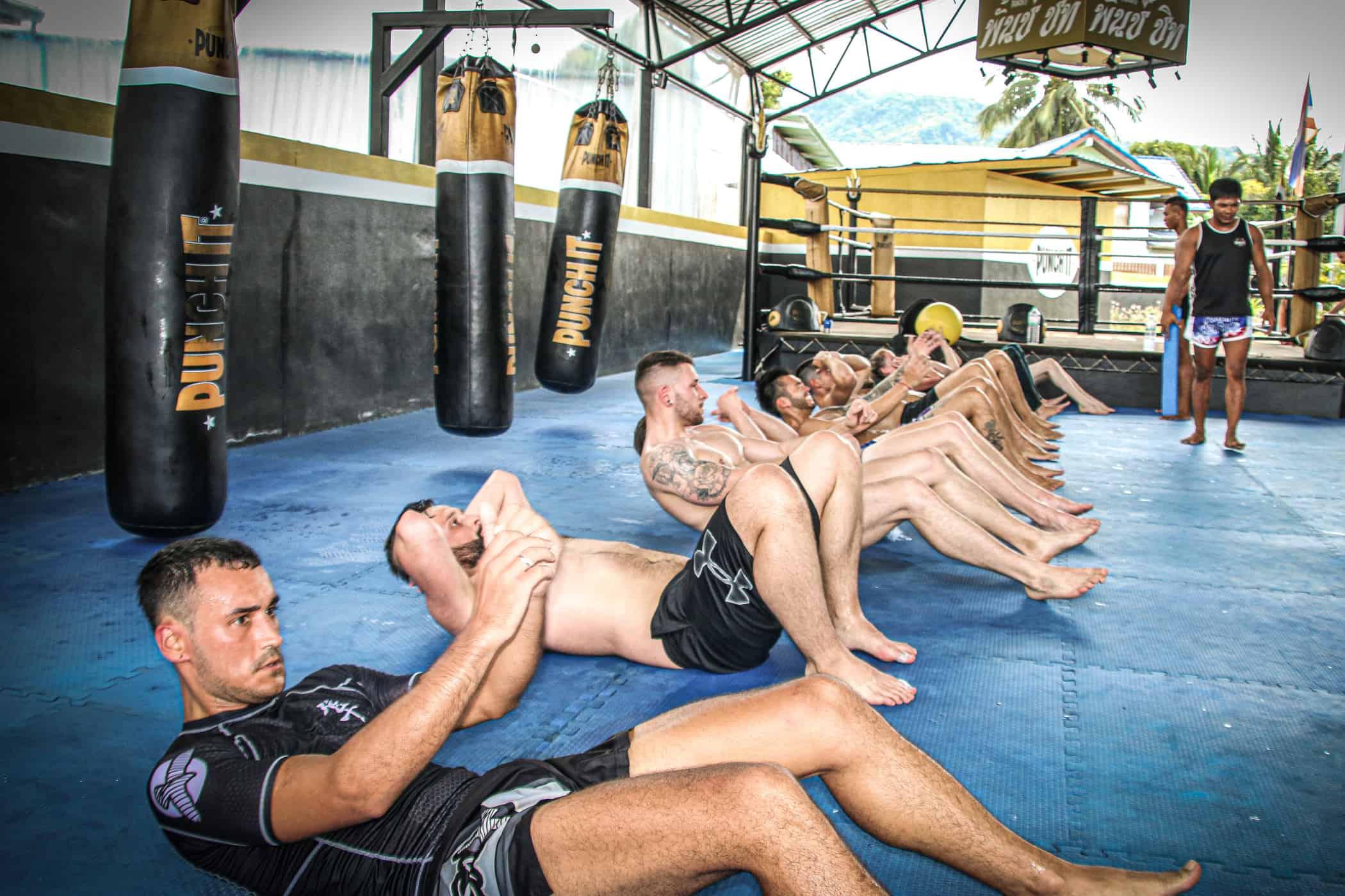 Training at Punch it Gym Koh Samui