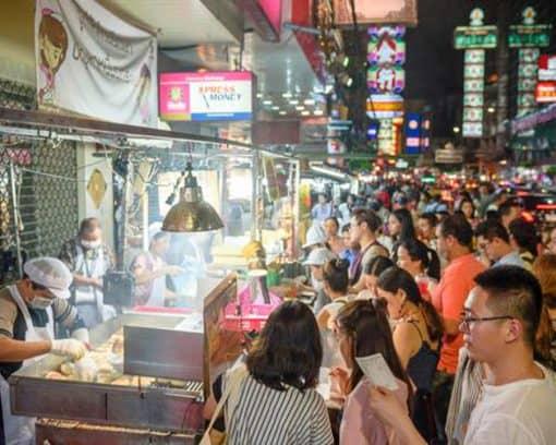 Food street in Bangkok