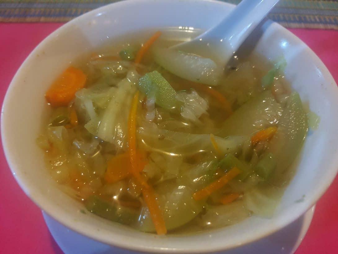 Noodle soup @ Ambrosia, Ngapali Beach, Myanmar