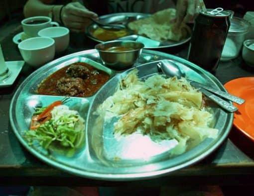 Burmese thali