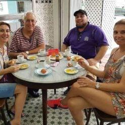 Group around table