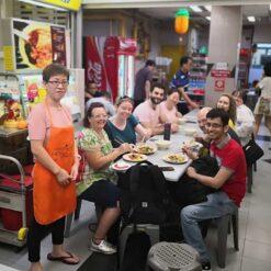 Group inside restaurant