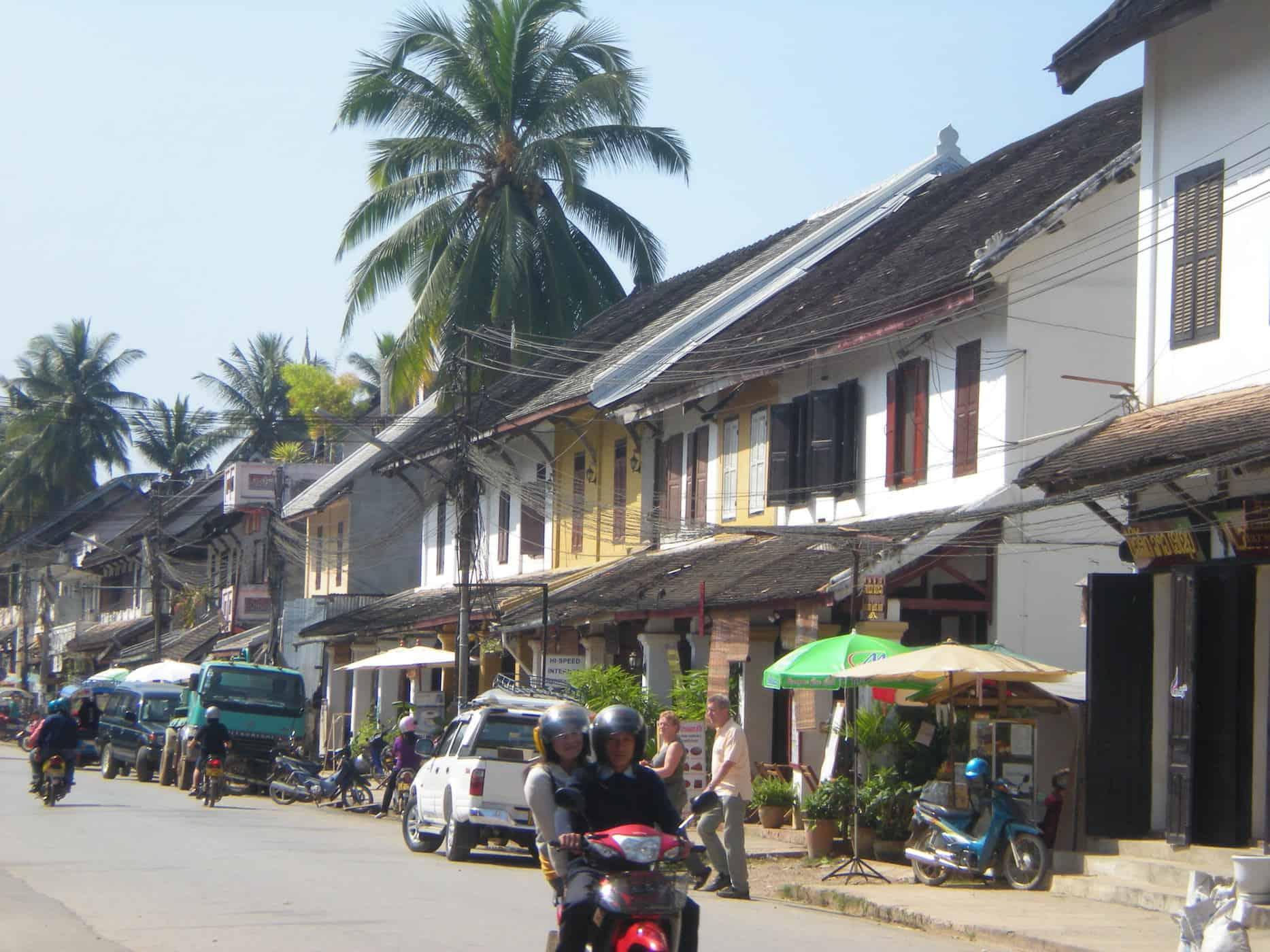 Street in Luang Prabang, Laos.