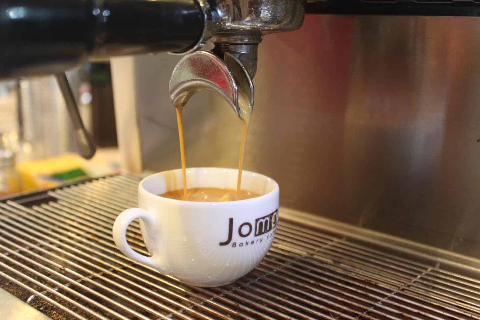 A fresh coffee at Joma Bakery in Luang Prabang, Laos.