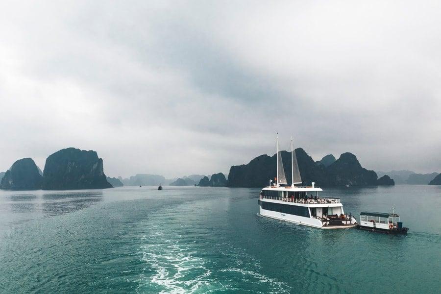 A View Across Lan Ha Bay on a Cloudy Day