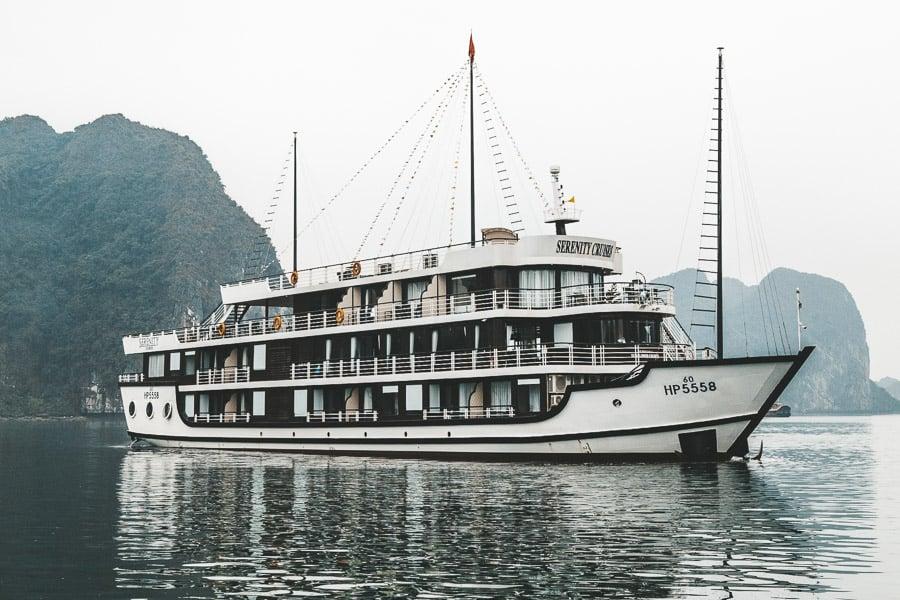A cruise ship in Lan Ha Bay.