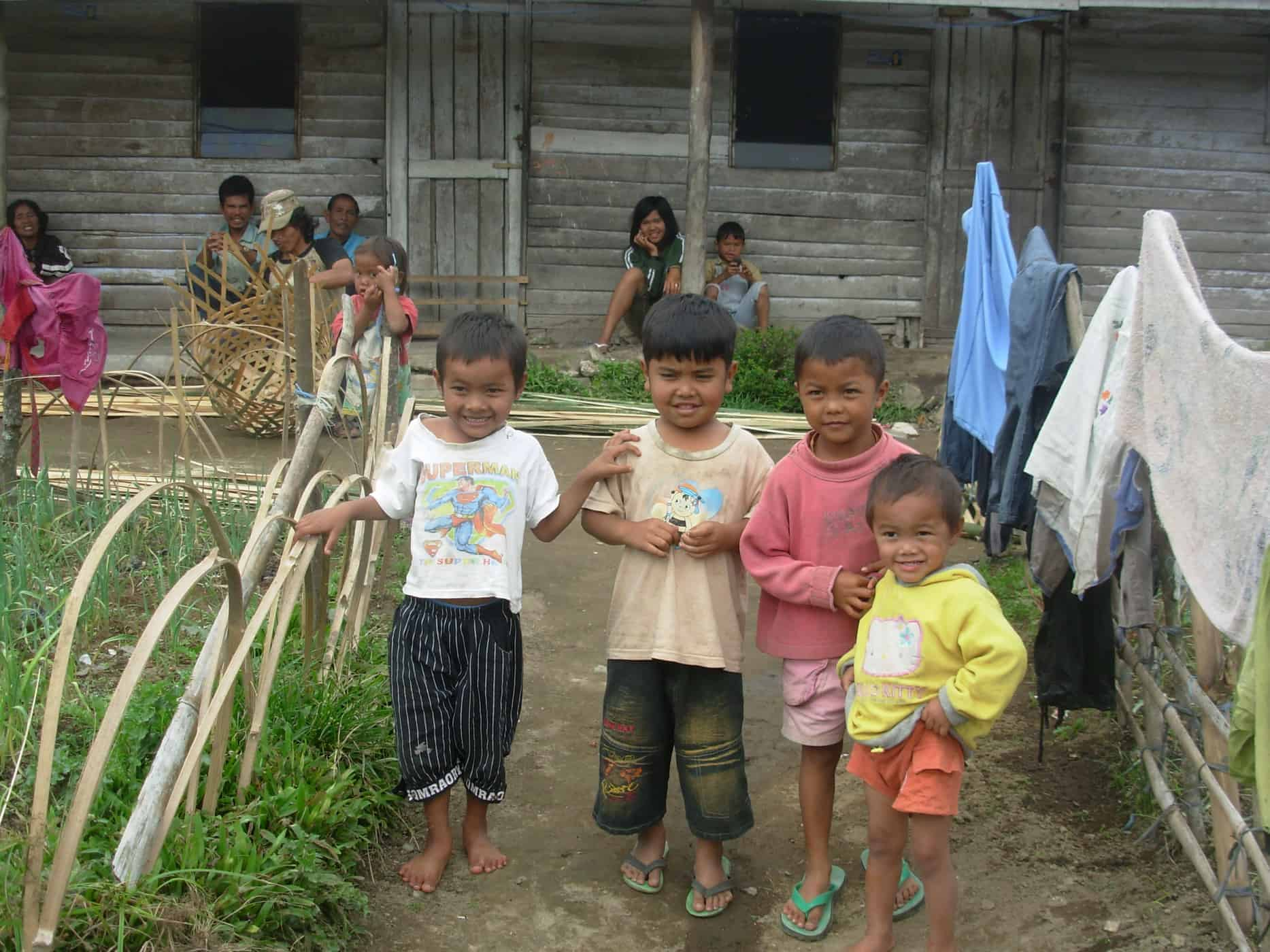 Local kids in Berestagi, Sumatra.