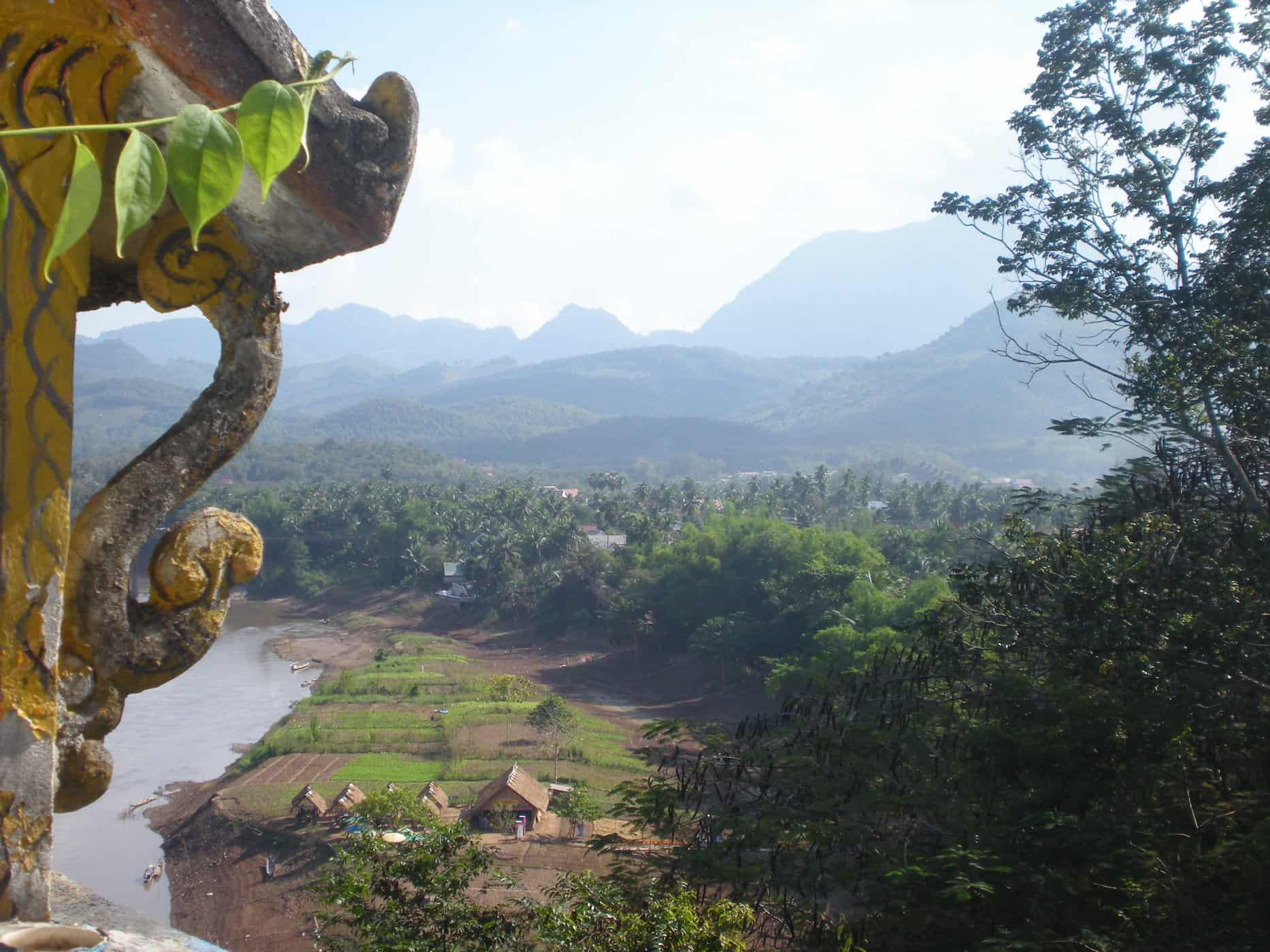 Views from the climb up Mount Phousi, Luang Prabang.
