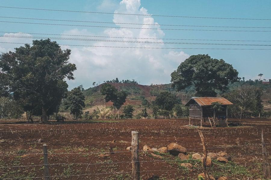 Bolaven Plateau Farmland, Laos