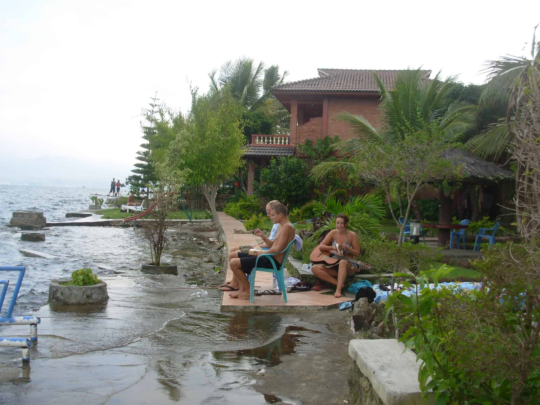 Relaxing at Samosir Cottages, Lake Toba, Sumatra