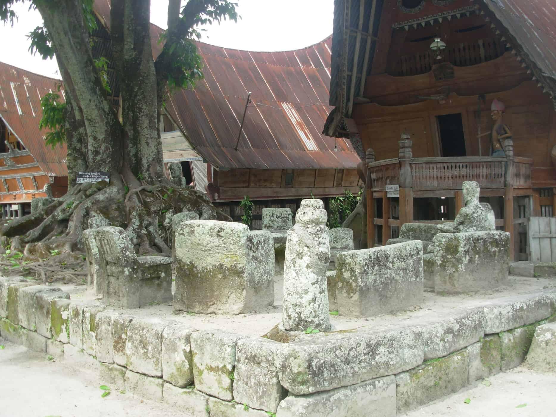 The tribal village Ambarita, Pulau Samosir, Sumatra.