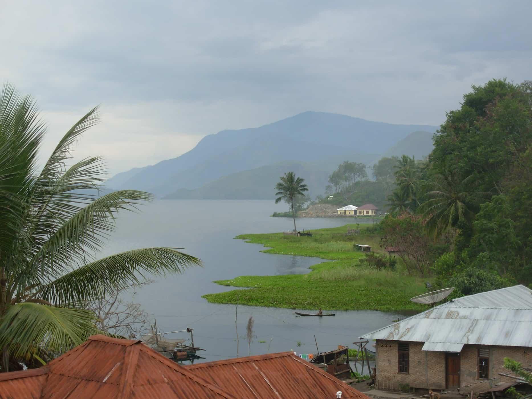 Views of Lake Toba, Sumatra.