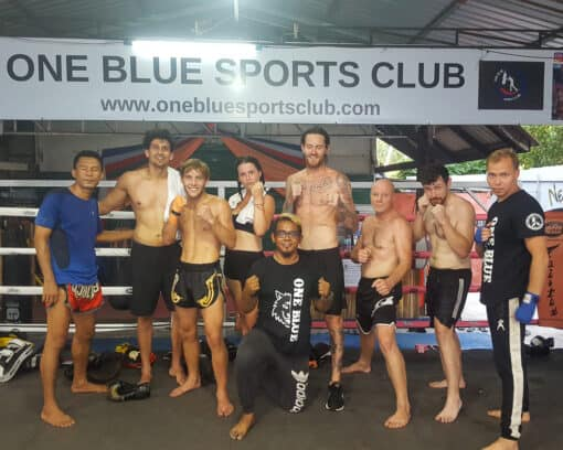 Muay Thai training group