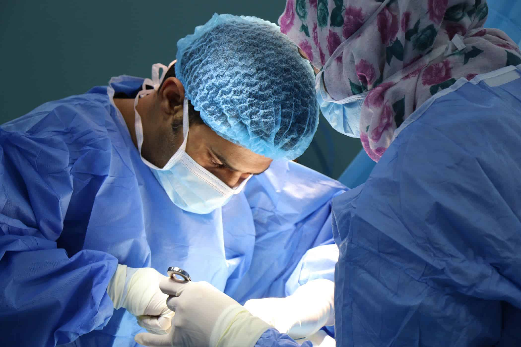 Doctor performing an operation.