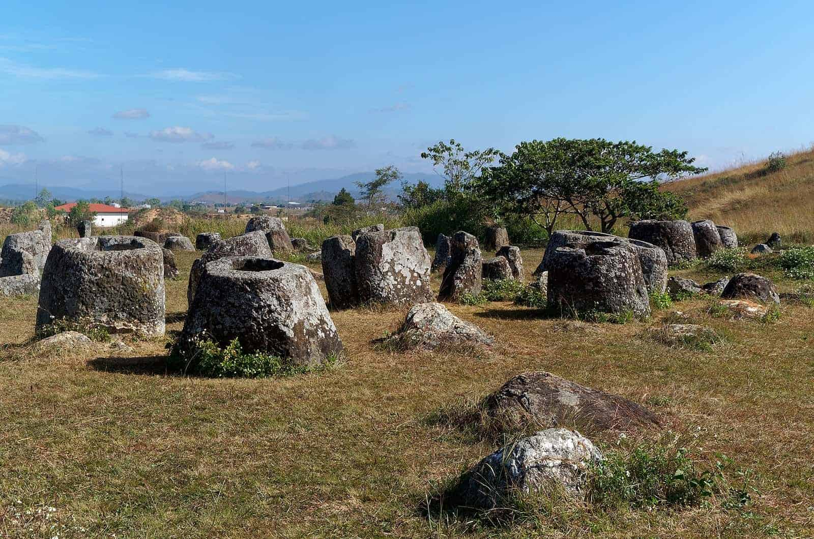 The mysterious Plain of Jars, Phonsavan, Laos.