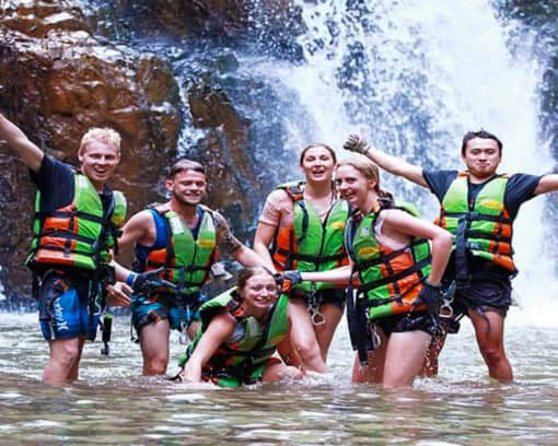 Group tour canyoning in Dalat