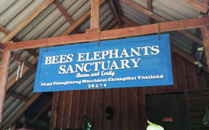 BEES Elephant Sanctuary sign