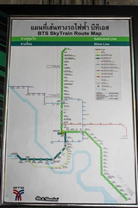 A train route map Bangkok Thailand
