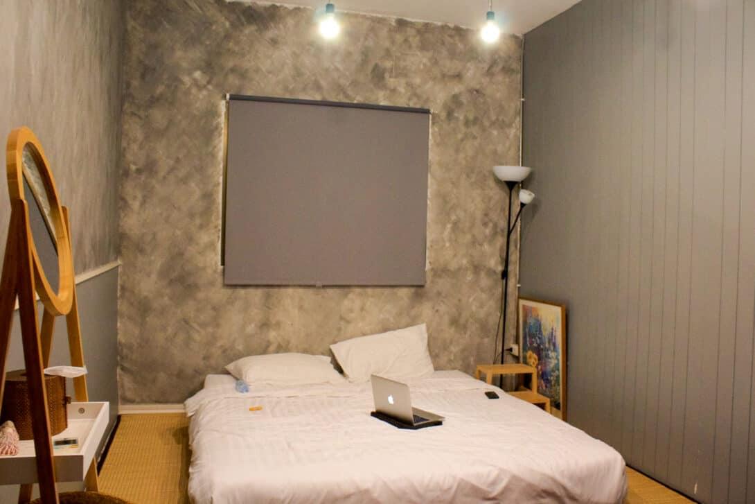 Room in one Thonglor Hostel, Bangkok.