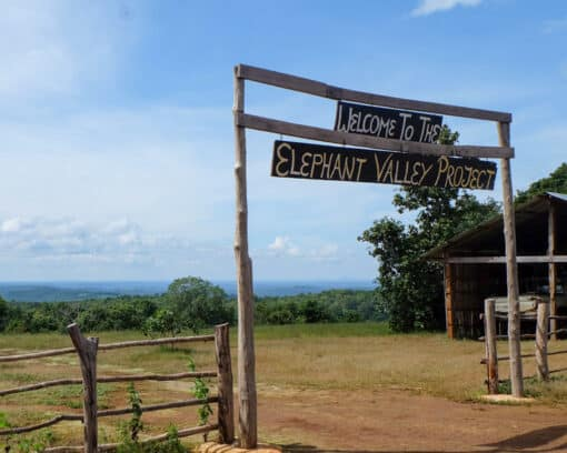 Elephant Valley Project sign