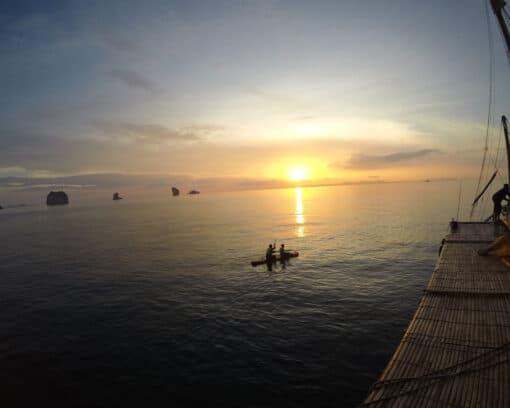 Sunset kayaking in Krabi, Thailand.