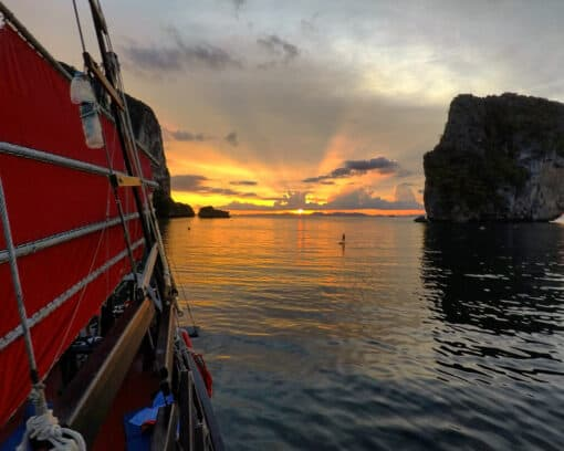 Spectacular sunset in Krabi.