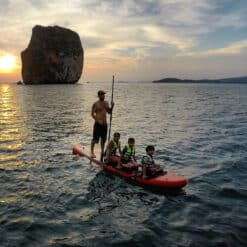 People kayaking in the sea.
