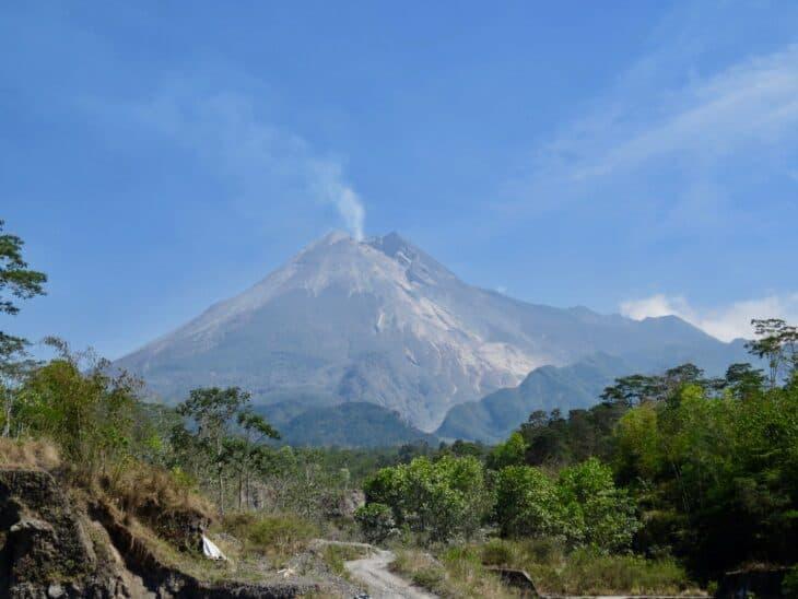 Mount Merapi Near Yogyakarta