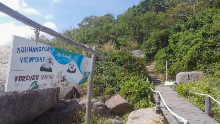 Stairs up to Nang Yuan Viewpoint.