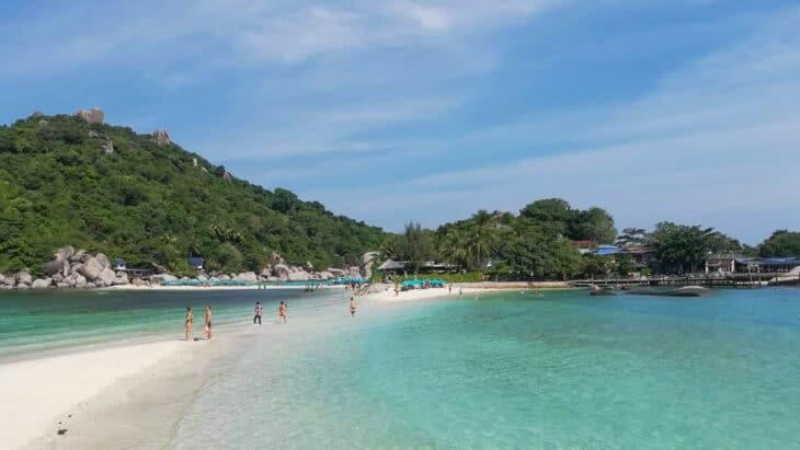 Beach at Nang Yuan Island, Thailand.