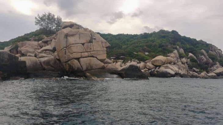 Rocks close to island in Thailand.