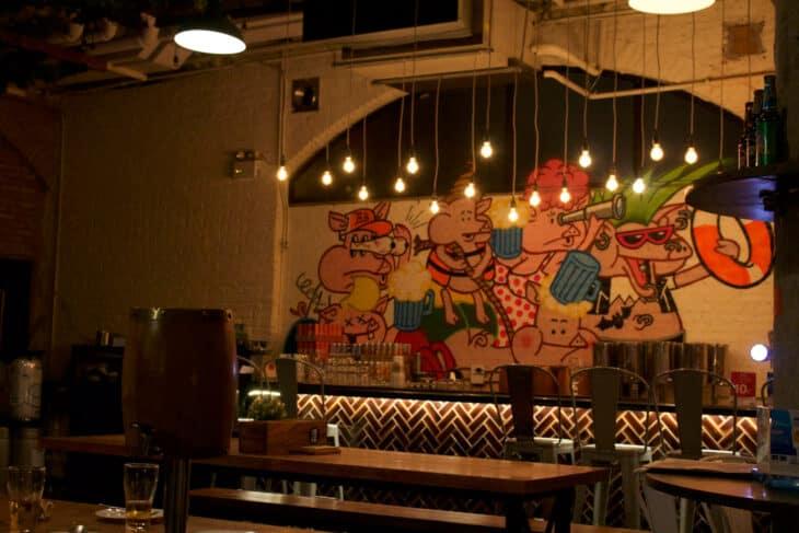 Mural in Beer Belly bar, Thonglor