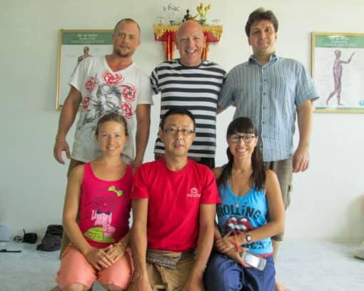 Students at Suai Thai Massage Training Centre