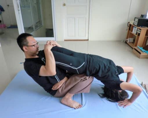 Stretching in Thai Massage
