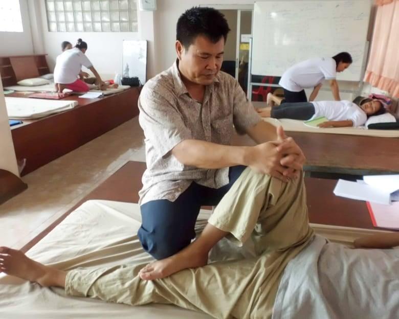 Leg stretch - Thai massage