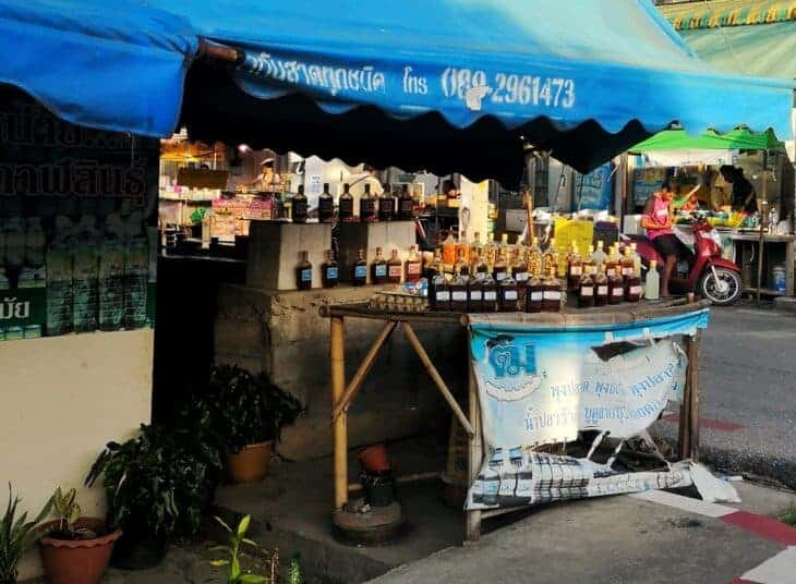 Stall on street in Hat Yai.
