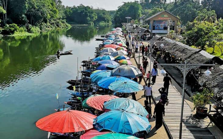 Floating market in Hat Yai.