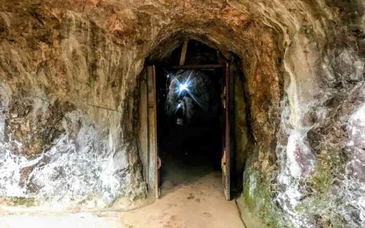 Vieng Xai War Cave entrance.