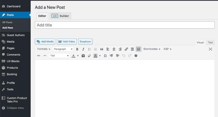 Posts screenshot on WordPress