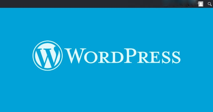 Wordpress Welcome Page.