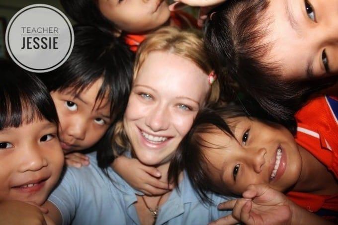 Teacher with Thai children