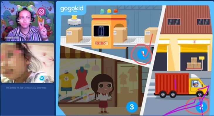 Online teaching screenshot