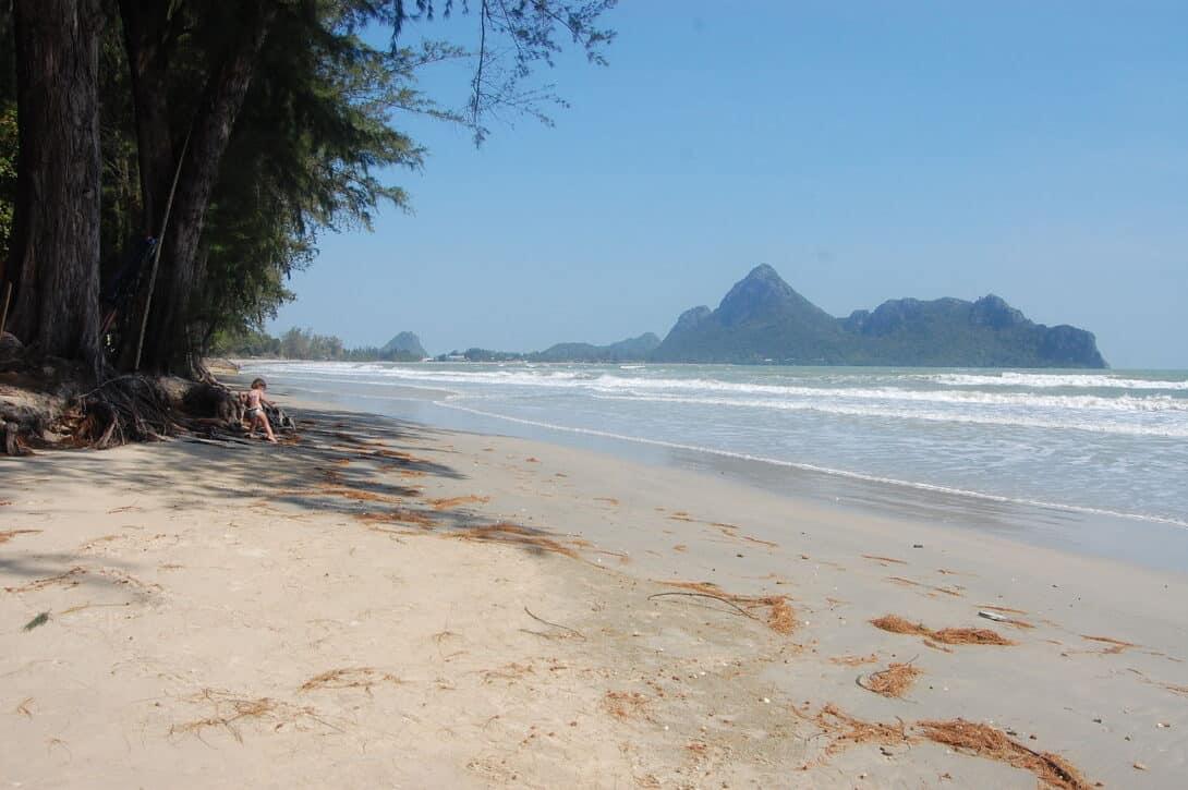Ao Manao Beach (Lime Bay) in Prachuap Khiri Khan, Thailand.