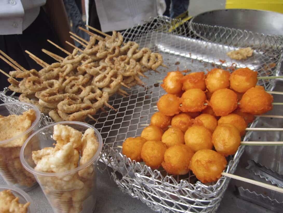 Deep fried Kwek-Kwek in the Philippines