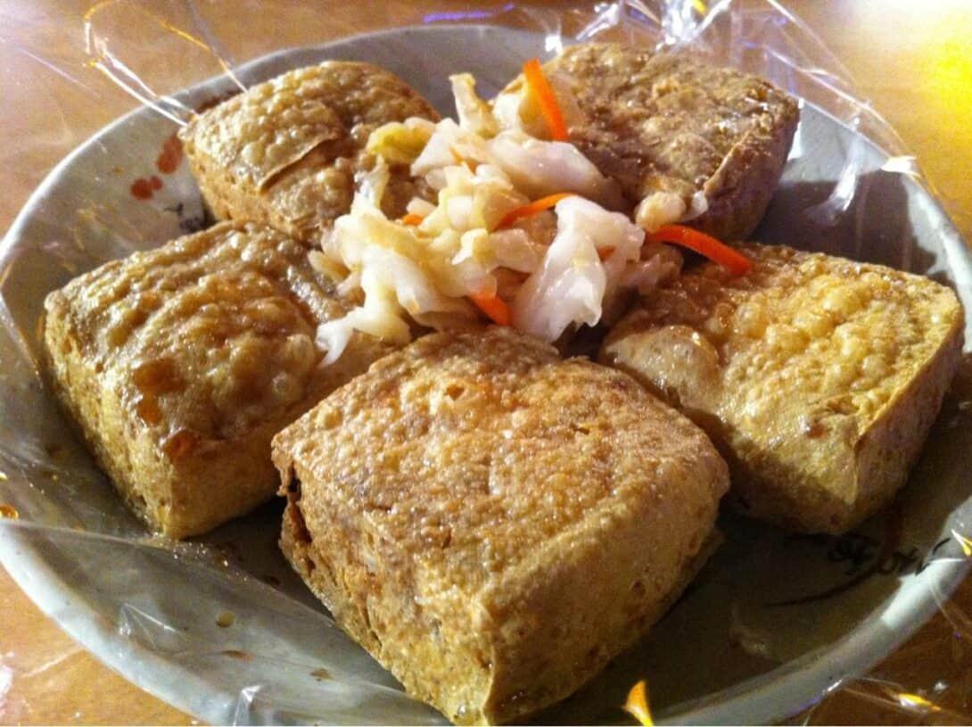 Stinky tofu street food China