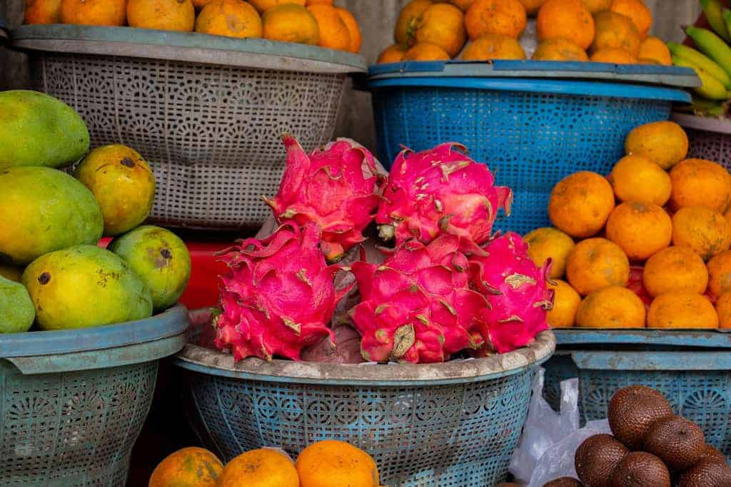 Dragonfruit on market