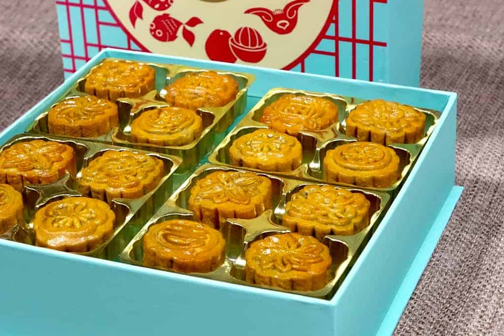 Mooncakes in box