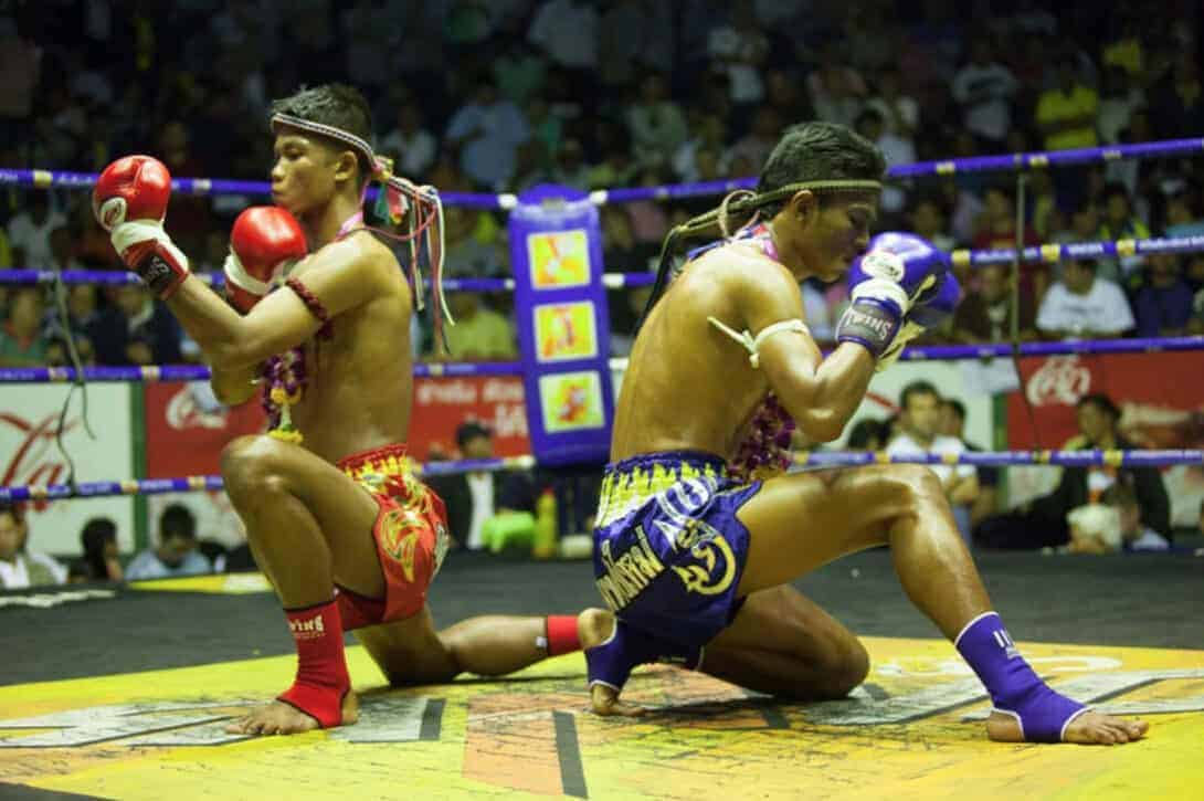 Fight at Rajadamnern Stadium Bangkok copia