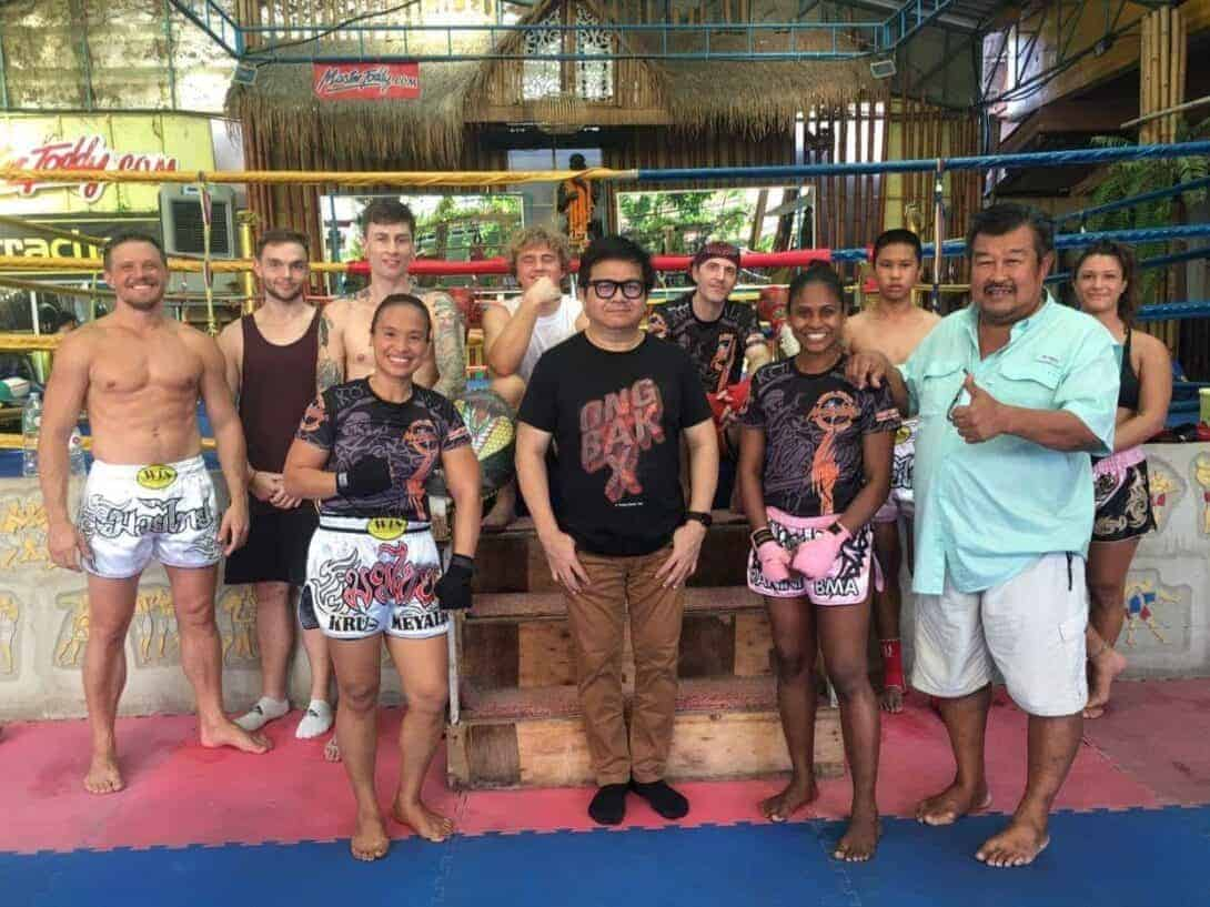 The crew at Master Toddy Muay Thai Gym.